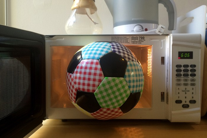 Gingham soccer ball -  Fully functional