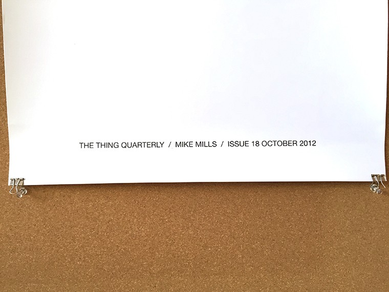 Mike Mills' issue 18 of THE THING Quarterly