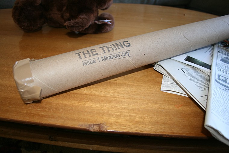 Vinyl window shade - The Thing Quarterly