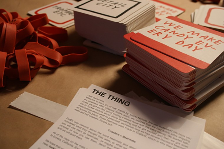 4 different beermats - The Thing Quarterly