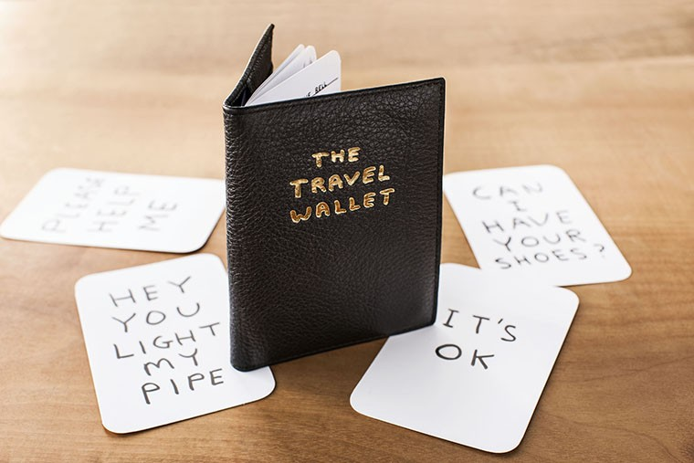 leather wallet with 24-page passport book