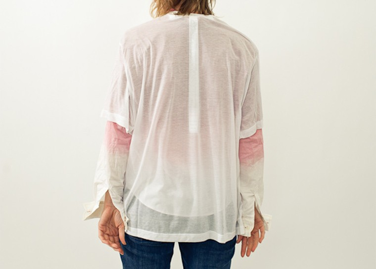 Custom Made White Sheer T-shirt