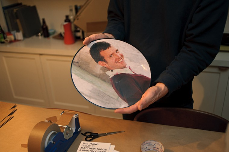 "12"" vinyl picture disk with an image Martin Creed"
