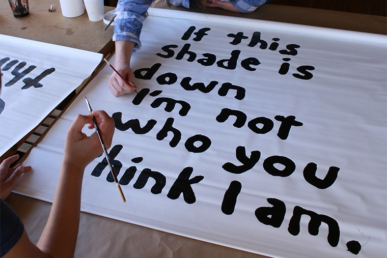 Vinyl window shade - MIRANDA JULY