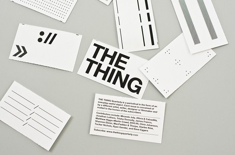 The Thing Quarterly - Four cards for business